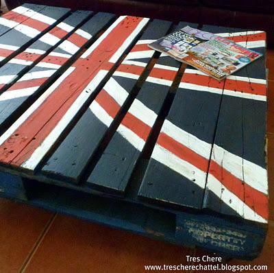 Union jack pallet coffee table