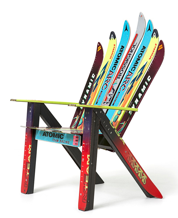 adirondack chair plans made with skis