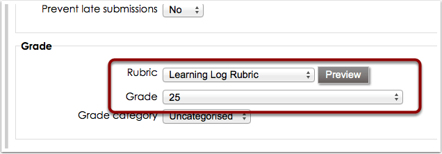 Add rubric to assignment