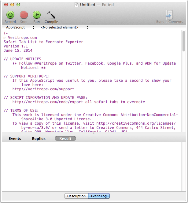 Insert AppleScript