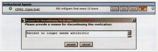 Discontinue a medication