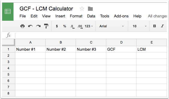 Step 2 - Set up your spreadsheet