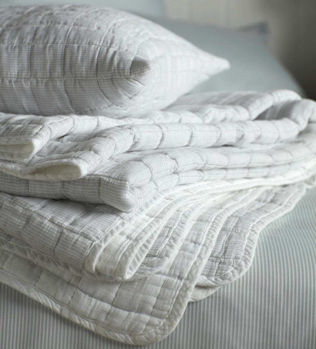 bedspread grey white stripe secret linen store