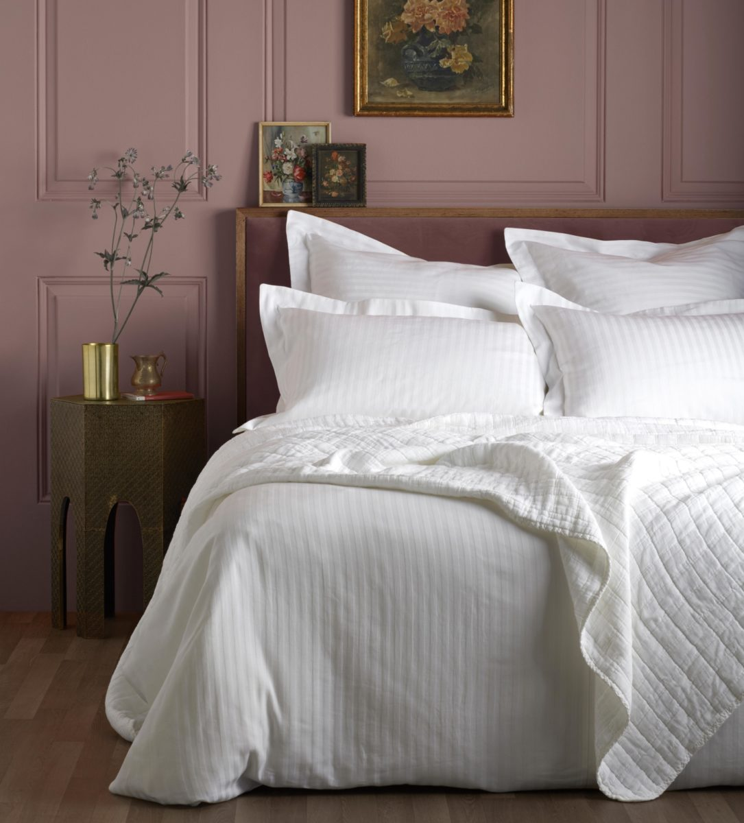 hotel stripe white bedding secret linen store