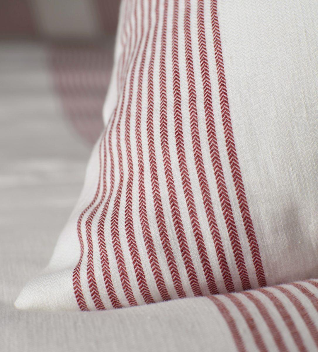 red ticking striped pillowcase secret linen store