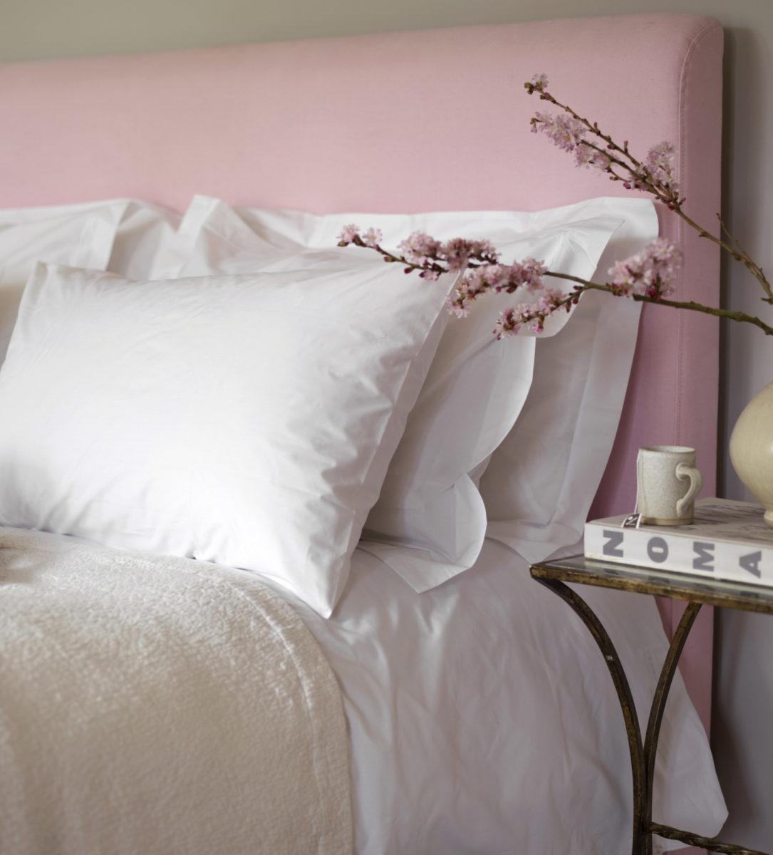 white cotton percale euorpean size pillowcases 50 x 80cm secret linen store