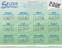 2008 Calendar A