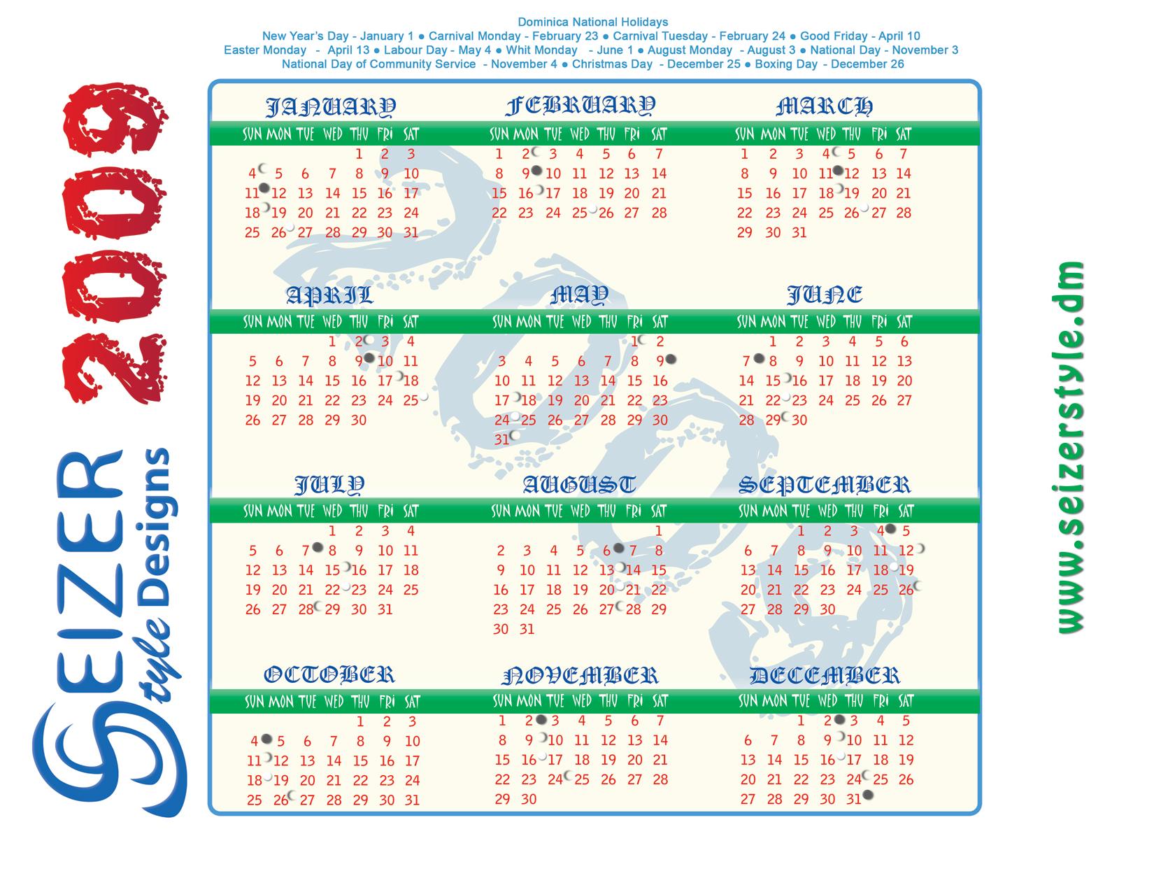 Seizerstyle Designs 2009 Calendars Seizerstyle Designs Blog