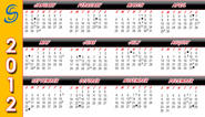 2012 Calendar Mini Glow