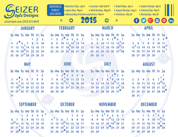 SeizerStyle Designs Calendar - In My Circle
