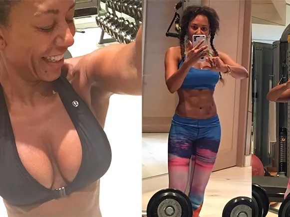 Check Out Spice Girl Mel B s Abs In This Fitspo Instagram Pic   SELF mel b