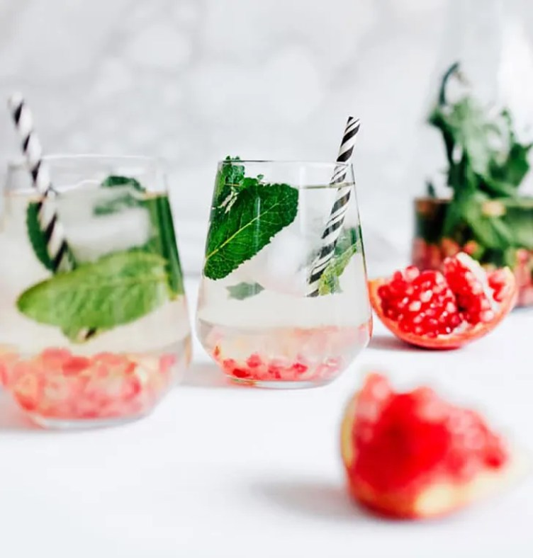 Pomegranate Mint Water from Live Eat Learn