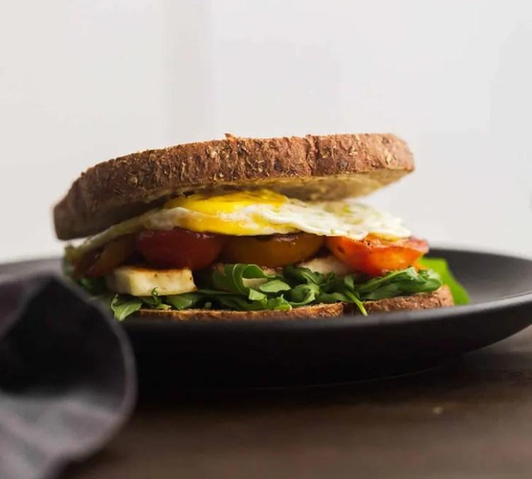 Halloumi Breakfast Sandwich from Naturally Ella