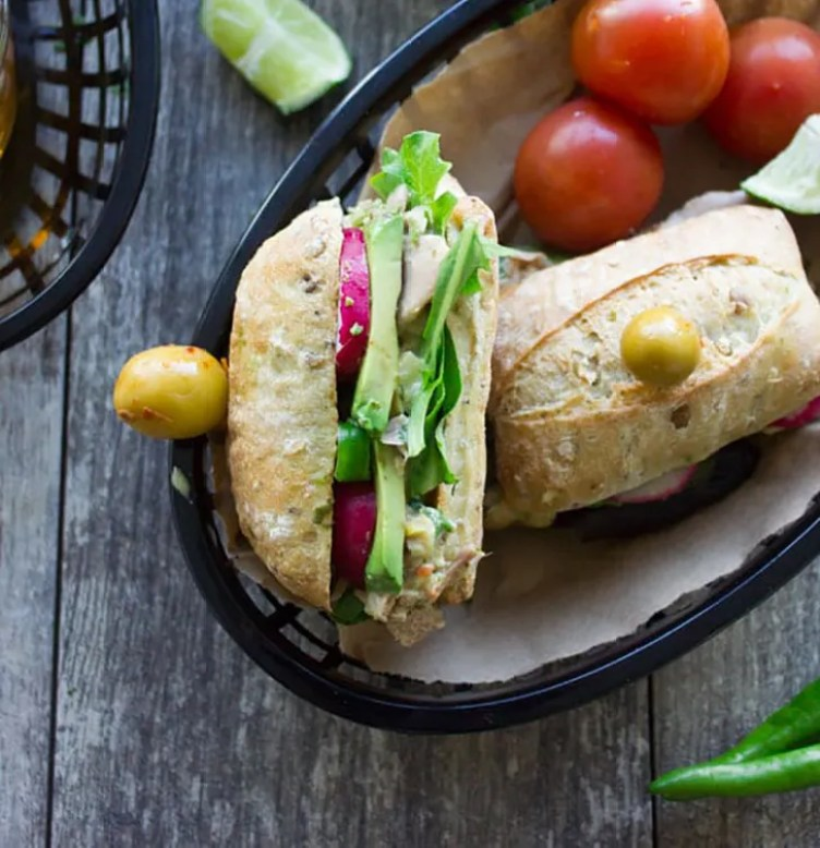 Spicy Chunky Tuna Sandwich from Two Purple Figs