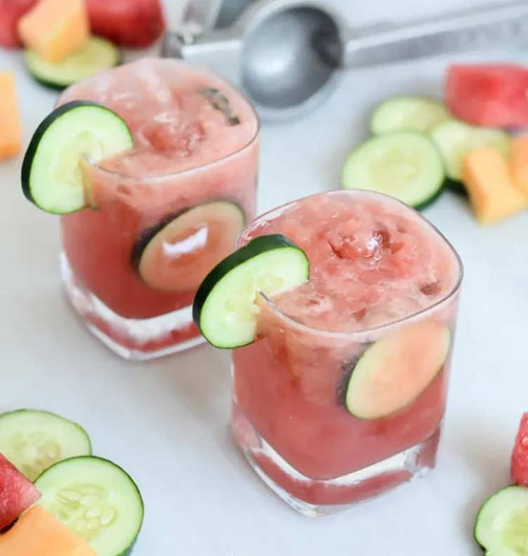 Mixed Melon Cucumber Coolers from Cali Girl Cooking