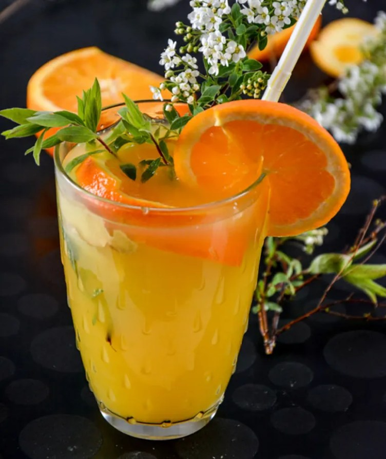 Nonalcoholic Ginger Mimosa from My Ginger Garlic Kitchen