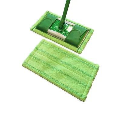 Swiffer pads add up over time which is where reusable microfiber pads come in handy. They attach securely to Swiffer...
