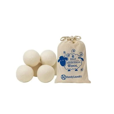 Wool dryer balls are a handy alternative to dryer sheets and fabric softener and can actually cut down your drying time...