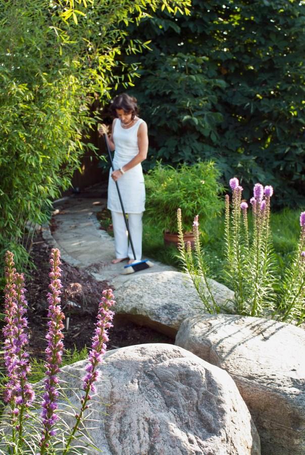 rosenstav, Liatris spicata hemma hos Gudrun Bengtsson