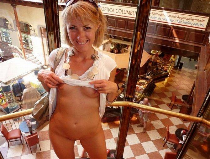Sexy wife in public