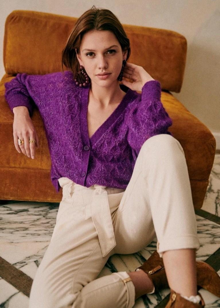 Sezane MARLOW JUMPER purple