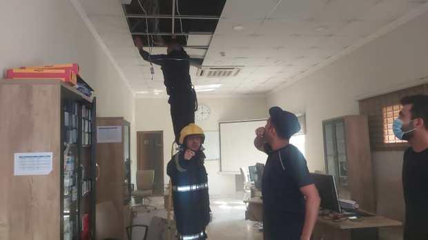 اندلاع حريق في مصرف وسط بغداد