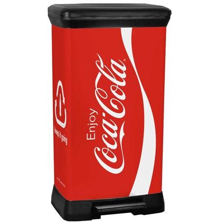 METROfr Poubelle Pdale Coca Cola 50 L