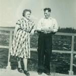 Mary och Sten Larsson, foto från augusti 1967 (men bilden heter Mary o Sten juni 1953).