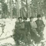 Skogsarbetare; längst t h Enar Hedström från Rödingsträsk.