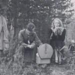 Herbert Hedström 1926-2013 och flickvännen Gretchen Forsman 1926-2004, Bodträskfors.