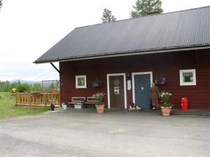 Här är möteslokalen med restaurang.