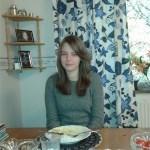 Lina Edelbro, dotter till Ann-Louise Edelbro (barnbarn till Mauritz).