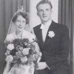 Sven Edman, Rödingsträsk och Vanja Broström, Djupträsk, gifte sig 27 november 1955.