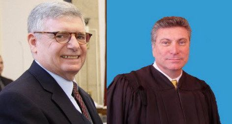 Appellate Court Justices William F. Mastro, left, and Joseph J. Maltese, seen in file photos, comprised part of a four-member panel which will hold a session on Staten Island on June 16, 2016. (Staten Island Advance)