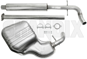 skandix shop volvo parts exhaust system stainless steel from catalytic converter 1050221