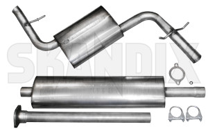 skandix shop volvo parts exhaust system stainless steel to catalytic converter 1075320