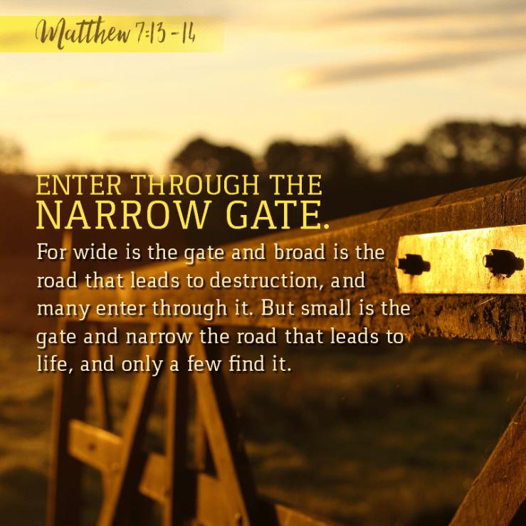 Matthew 7:13-14   KCIS 630