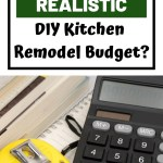 A Realistic Diy Kitchen Remodel Budget Allmomdoes