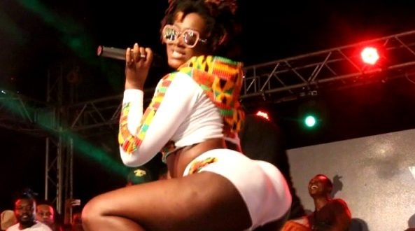 Image result for Ebony Reigns performing in Ghana