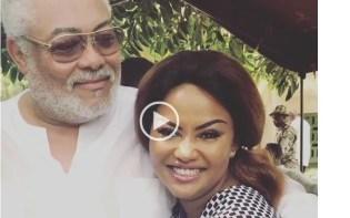 VIDEO: Watch ex-prez Rawlings kissing Nana Ama MacBrown