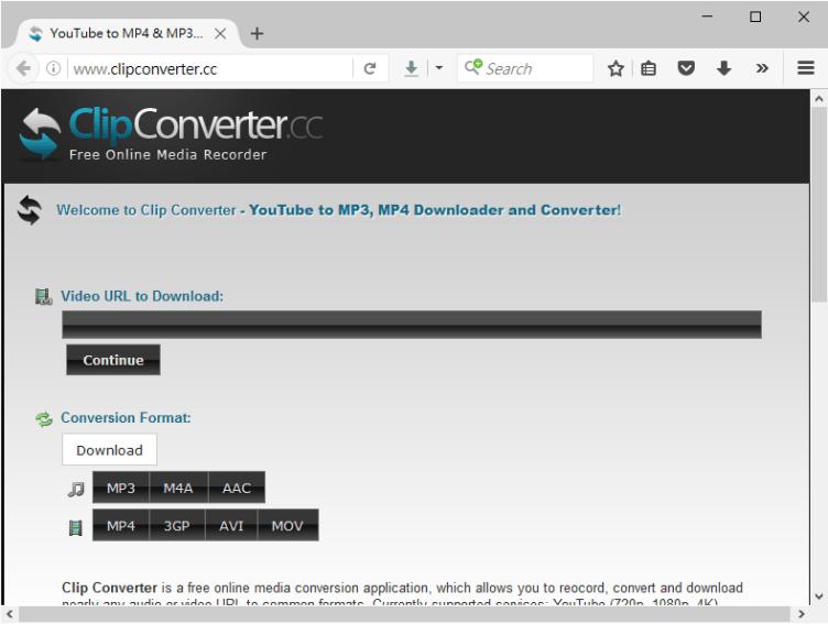ClipConverter.cc網站介面