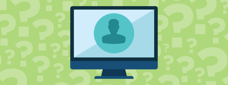 green question marks computer onboarding experience