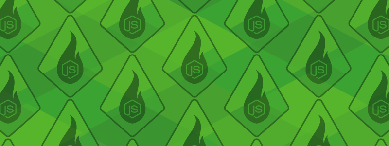 green background sparkpost flame node.js