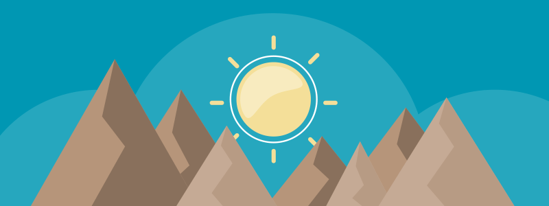 app-generated emails blue background brown mountains yellow sun 800x300