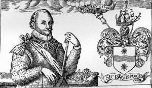 Detalj från Sir Francis Drake Revived, London 1626.