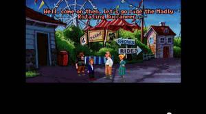 Tydligen har du sprungit bort på ett nöjesfält. Och din äldre bror Chuckie har letat efter dig. Njä...