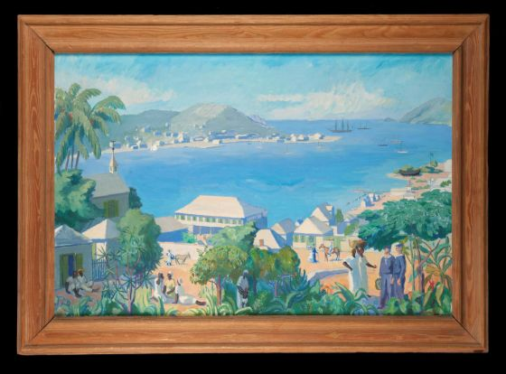"""""""Gustavia"""", av Folke Eriksson."""