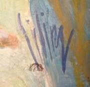 Liling Nyströms signatur som bekräftar att han målat Jägersro.