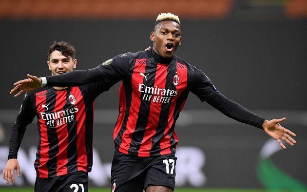 Рафаэль Леао из «Милана» только что забил гол в ворота «Спарты».