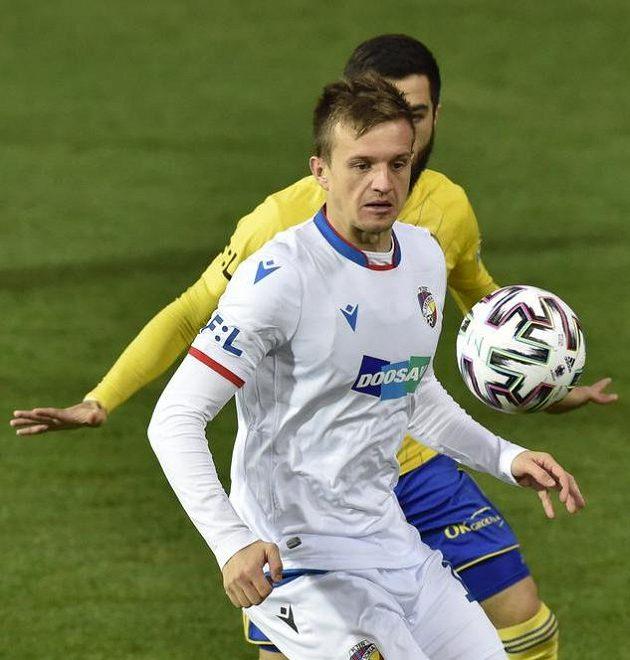 Janský Kopic from Plzeň during the match in Zlín.